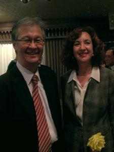 会長のAnne Marie Muntz氏と 2014年1月30日